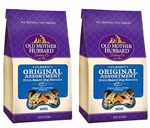 Old Mother Hubbard Crunchy Classic Natural Dog Treats - Original Assortment (2 Pack)