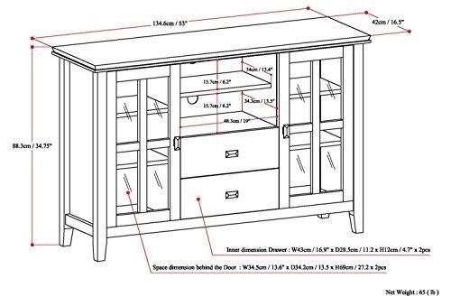 Simpli Home Artisan TV Media Stand for TVs up to 60'', Medium Auburn Brown by Simpli Home (Image #5)'