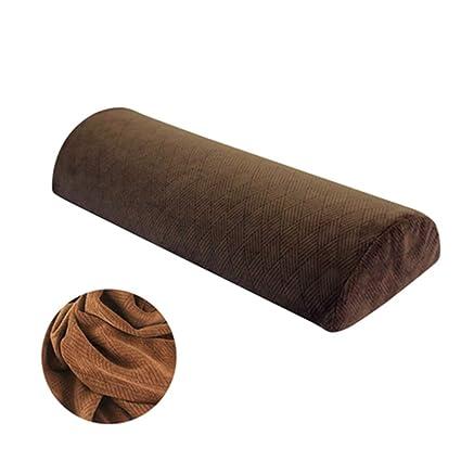 Almohada de la pierna media luna memoria espuma cojín uso ...