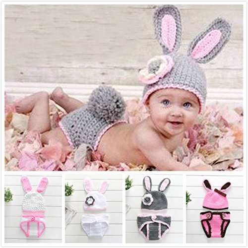 4f3cee53e Generic Baby Rabbit Hand Made Knitted Crochet Costume Photo Props ...