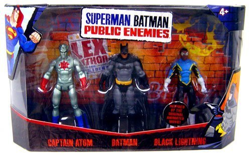 Mattel Superman Batman Public Enemies Mini Figure 3-Pack Captain Atom, Batman & Black Lightning