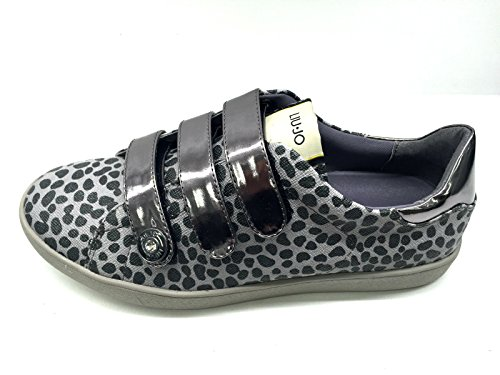 Scarpe Sneakers Donna LIU JO Straps Elephant Skin Nero Tessuto Tecnico Nuove