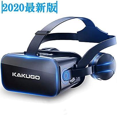 Amazon.co.jp: 【2020最新版】Kakugo 3D VRゴーグル ヘッドホン付き ...