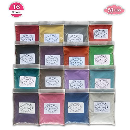 CuteyCo CraftySand's Big Pack: 16 lbs & 16 Colors for Kids' Play Sand, Sand Art ()
