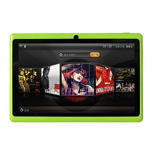 2020 New - YUNTAB 7 inch Android 8.0 Tablet, 1.5 Ghz Quad Core CPU, with WiFi, 1GB RAM, 16GB ROM, 1024x600 HD Touch Screen, Pre-Loaded Google Play Store & Games, Dual Camera(Green)
