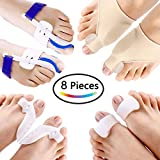 PAAZA Bunion Corrector & Bunion Relief Kit - Cure Pain in Big Toe Joint, Tailors Bunion, Hallux Valgus, Hammer Toe, Toe Separators Spacers Straighteners Splint Aid Surgery Treatment