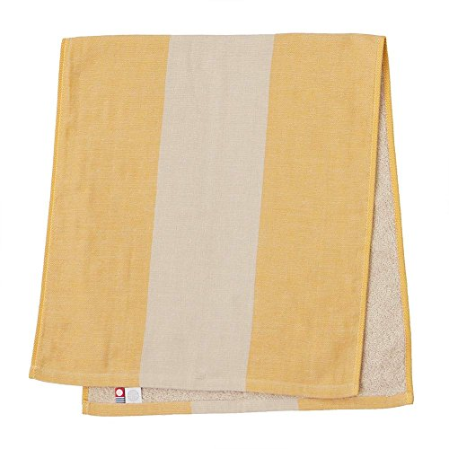 & Pile Face Towel imabari towel Japan - Yellow (Two Tone Gauze)