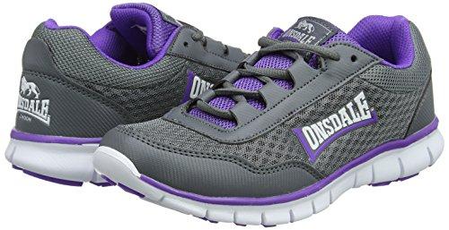 Southwick grey Gris Mujer Exterior Deporte purple Para Zapatillas De Lonsdale BndxOwS1q1