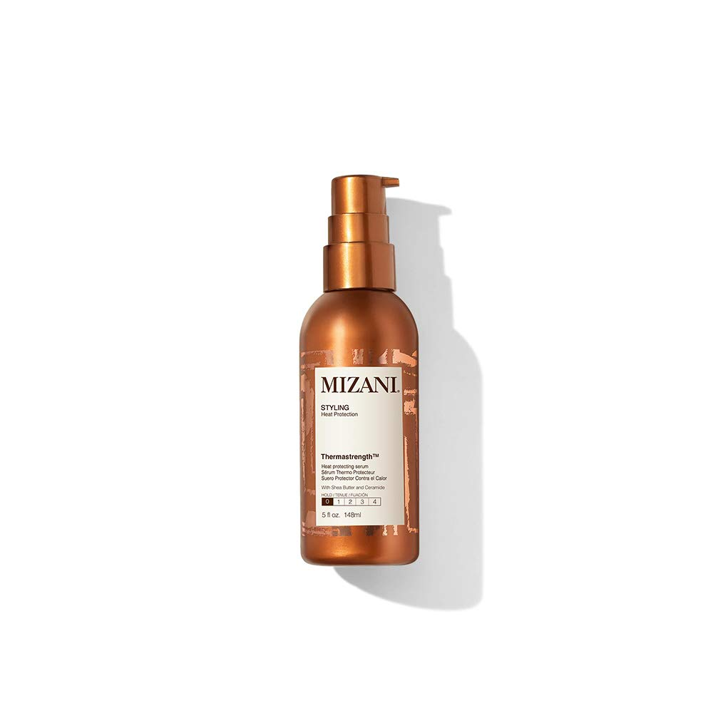 Mizani Thermastrength Heat Protecting Serum | Protects Hair From Heat Damage | With Shea Butter | For Curly Hair | 5 Fl. Oz.