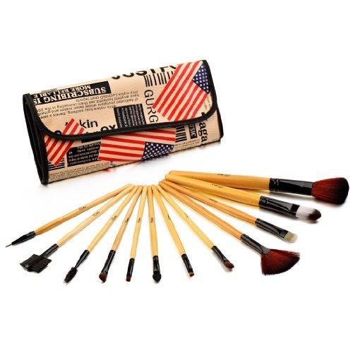 Glow Professional 12-piece Makeup Brush Set, American Flag (Glow 12 Piece)