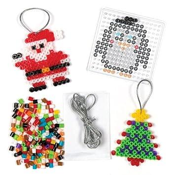 Kit De Decoration De Noel En Perles Que Les Enfants Pourront