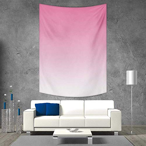 - smallbeefly Ombre Tapestry Wall Hanging 3D Printing Dreamy Pale Pink Waterfall Cotton Candy Inspired Modern Digital Print Girls Artwork Beach Throw Blanket 70W x 84L INCH Pale Pink