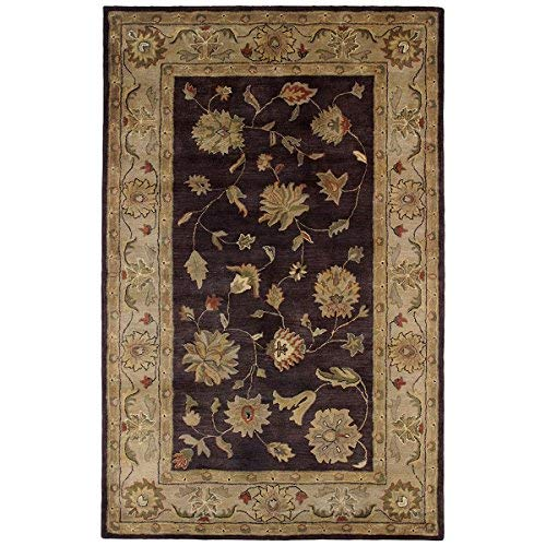 Dynamic Rugs CH241406800 Charisma Collection Area Rug, 2' by 4', Eggplant/Ivory ()