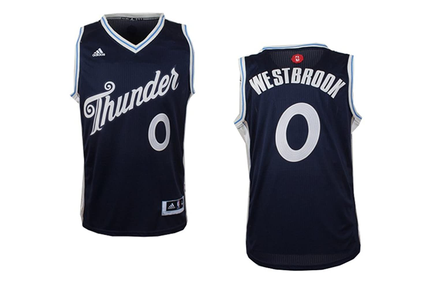 0733150733f ... promo code for mens oklahoma city thunder russell westbrook 0 christmas  edition jersey blue 70off c7295