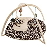 Legendog Cat Bed, Foldable Animal Shaped Bed Exercise Activity Center Cat Play Mat with Hanging Toys