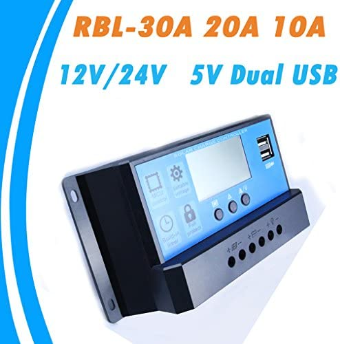 Loubin LCD-12/24-V-10/20 / 30A Solarladeregler Regulator Intelligent PWM Timer USB