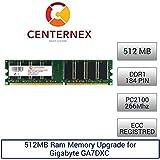 512MB RAM Memory for Gigabyte GA7DXC (PC2100 Reg) Motherboard Memory Upgrade by US Seller