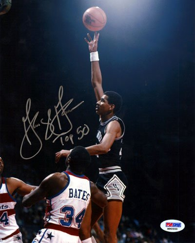 - George Gervin Autographed 8x10 Photo San Antonio Spurs