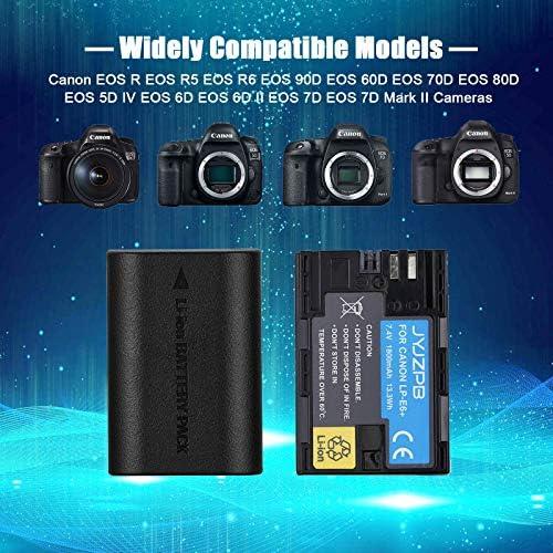 Amazon Com Jyjzpb Lp E6 Lp E6n Rechargeable Battery Charger Set 2 Pack Camera Batteries Compatible With Canon Eos 5d Mark Ii Iii Iv 5ds 5ds R 6d 60d 6d Mark Ii 7d 7d Mark Ii 70d