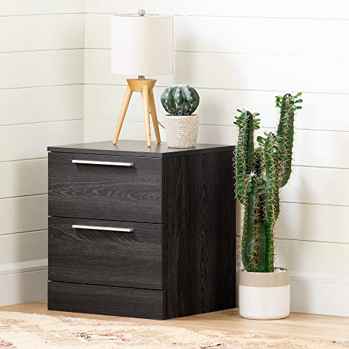 South Shore 12417 Step One Essential 2-Drawer Nightstand-Gray Oak