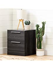 South Shore Furniture 12417 Step One Essential 2-Drawer Nightstand-Gray Oak