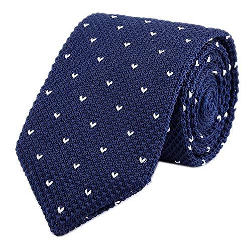 Men Navy Blue Retro Cool Designed Ties White r Pattern New Necktie For Groomsmen