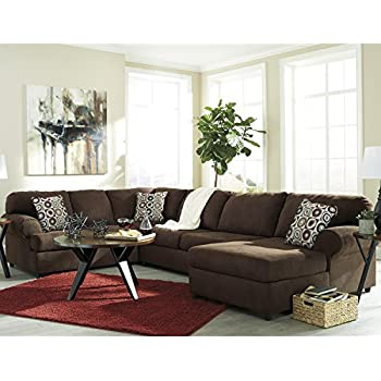 Flash Furniture Signature Design by Ashley Jayceon 3-Piece LAF Sofa Sectional in Java Fabric