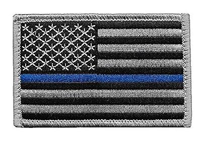 Amazon.com  US Flag Thin Blue Line Patch for Police and Law ... 0ce0479e2e9