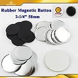 Asc365 100sets Rubber Magnetic 2-1/4'' 58mm Button Maker Parts HOT Sale!!!