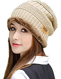 ac6212fdaf0 Winter Hats for Women   Men Slouchy Beanie Skull Caps Warm Snow Ski Knit Hat  Cap