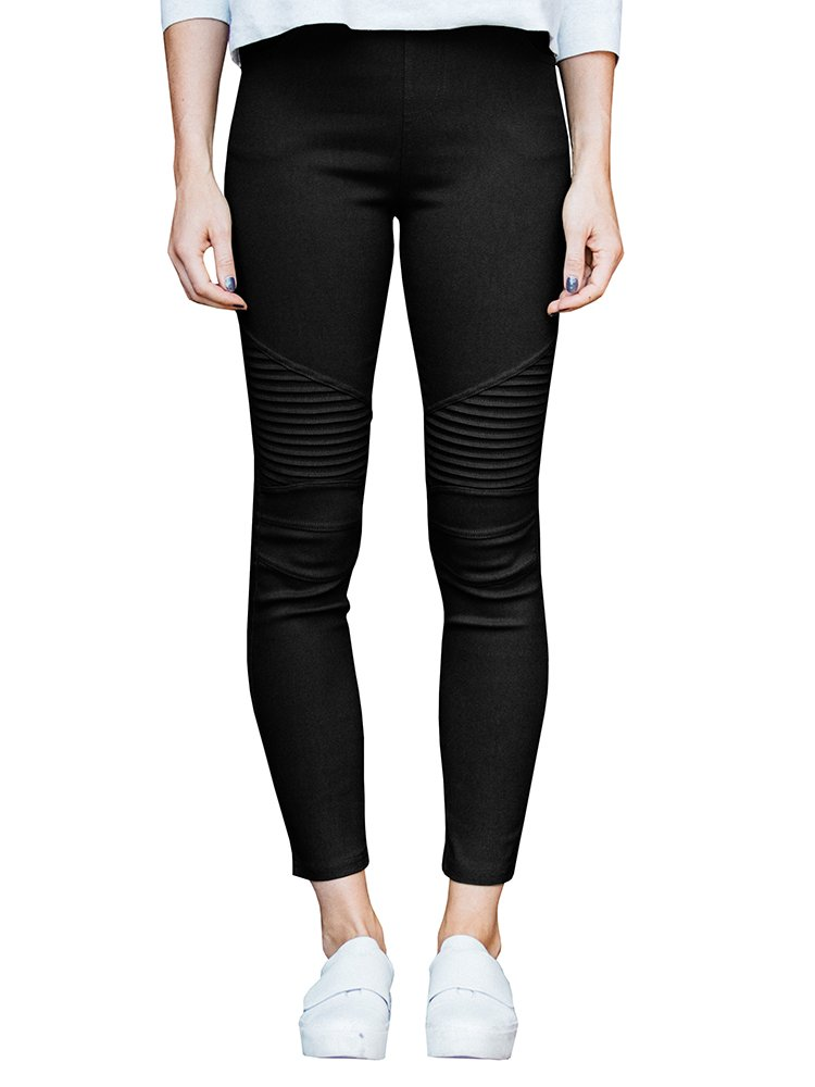 Meilidress Womens High Waist Moto Jeggings Skinny Stretch Ankle Jeans Leggings with Pockets