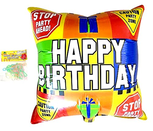 24 Pack Best Birthday Zone Party Supplies Inflatable Mylar Foil Helium Generic All Occasion Holiday Balloons Kid Student Daughter Son Children Cousin Friend Family Top Stocking Stuffer Present Idea (Christma Gift Ideas)