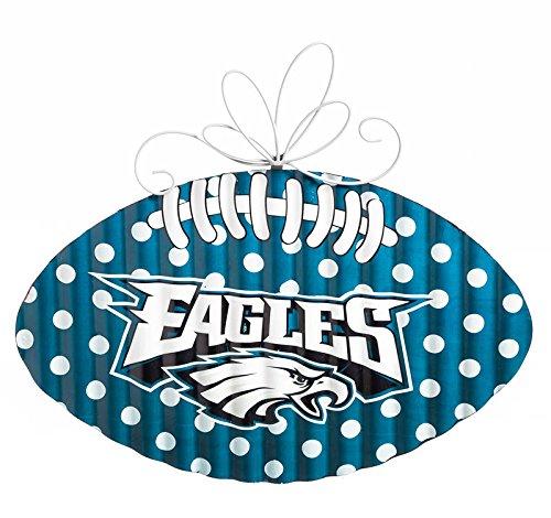 NFL Philadelphia Eagles Corrugated Metal Football Door Decor, Small, Multicolored