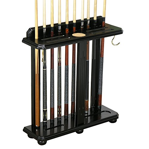 10 Cue Floor Stand - Traditional, Floor-Style Pool Cue Holder