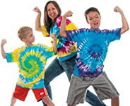 Steve Spangler's Tie-Dye Classroom or Party Kit, Ideal for DIY Fashion and Activities, Makes 20 Sh