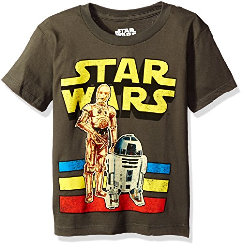 Star Wars Boys' Little Boys' Artoo Seethree T-Shirt, Charcoal, 07 (Star Wars Boys)
