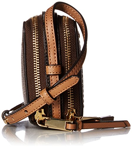 Zip Calvin Boxy Monogram Brown Klein Khaki Around Crossbody FwwtvqnSz