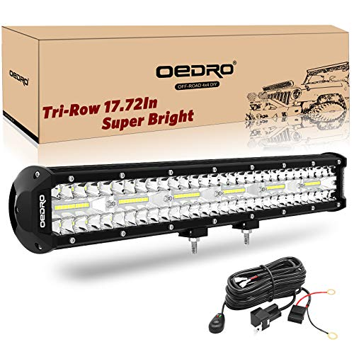 LED Light Bar OEDRO 17 Inch 468W 32760LM Tri-Rows Spot Flood Combo Led Lights Work Lights+Wiring Harness IP68 Grade Off Road Light 12V 24V Fit for Pickup Jeep SUV 4WD 4X4 ATV UTE Truck Tractor etc