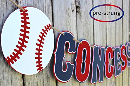 Taygate Baseball Concessions Banner Sports Birthday Party Decorations Photo Props (Concessions)