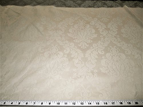 Blend Fabric Drapery (Discount Fabric Upholstery Drapery Jacquard Damask Floral Choose Your Color (Swatch Sample, Taupe))