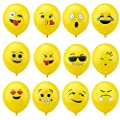 "Party Balloons, 12"" Emoticon Latex Balloons Party Supplies Creative Gifts for Wedding Party Home Corporate Events Decoration , Pack of 150pcs with Assortment"