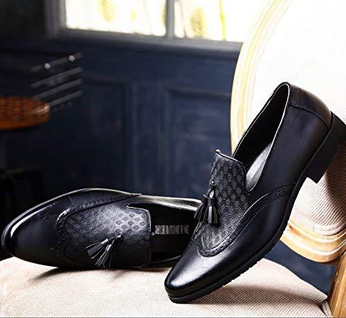 Cuero Viento Black Tallados Retro color Size Home Brock Para De Zapatos Británico Casuales 41 Negocios Hombres Black Señalado Mon5f PAwqtBaZP