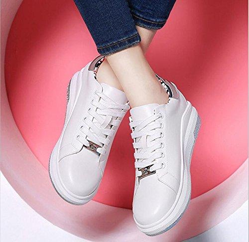 KHSKX-Sportliche Frauen Schuhe Frühling Das Halteband Für Frauen Schuhe Flache Unterseite Einzelne Schuhe Runden Kopf Tief In Einem Low-Cut Schuh Mädchen 37