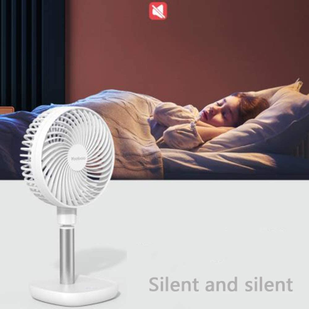 Suitable for Office LMMNFS USB Mini Fan Kitchen Strong Wind Silent Etc Portable Student Dormitory Mute Small Table Fan Dormitory Capacity : 8000 mAh Two Loaded Bedroom Adjustable Angle