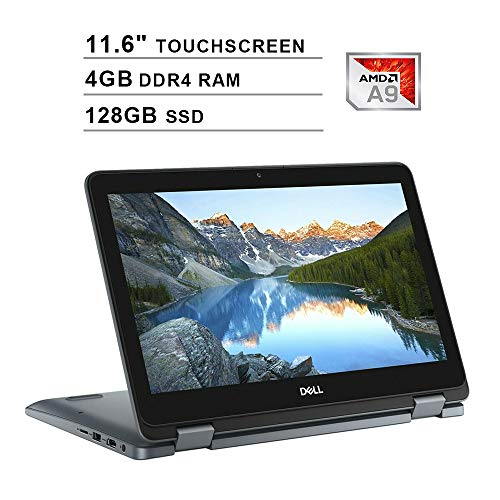 2019 Newest Dell Inspiron 11 3195 2-in-1 11.6 Inch Touchscreen Laptop (AMD A9-9420e up to 2.7GHz, 4GB DDR4 RAM, 128GB SSD, AMD Radeon R5, WiFi, Bluetooth, HDMI, Windows 10)
