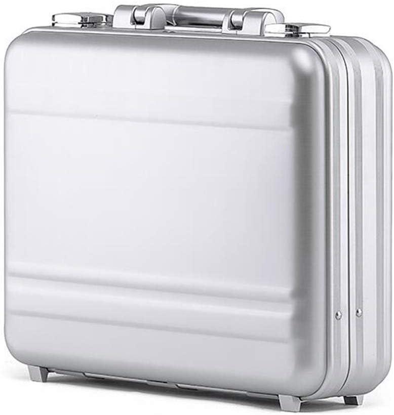 Color : Silver, Size : 37 * 26 * 11.5cm MYDZ Armadietti metallici Alukoffer Portable Lockbox Business Aktenkoffer Computer-Box-Datei Box R/ückzug Der Ausr/üstung Toolbox
