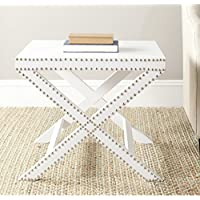 Safavieh Home Collection Jeanine White Croc X End Table