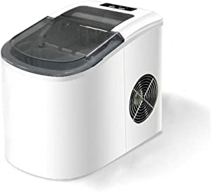 JFGUOYA Portable Ice Maker Machine for Countertop - Makes 33 Lbs of Ice Per 24 Hours - Ice Cubes Ready in 6 Minutes - Electric Ice Making Machine with Ice Scoop and 1.5 Lb Ice Storage - White