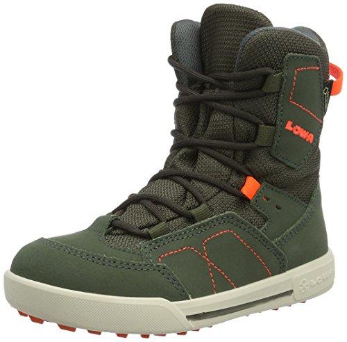 Lowa Raik Gtx Mid, Zapatos de High Rise Senderismo Unisex Niños, Rojo, Einheitsgröße Verde (oliv/neon orange)