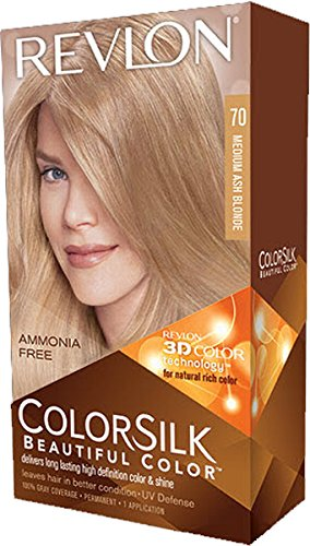 Revlon ColorSilk Hair Color 70 Medium Ash Blonde 1 Each